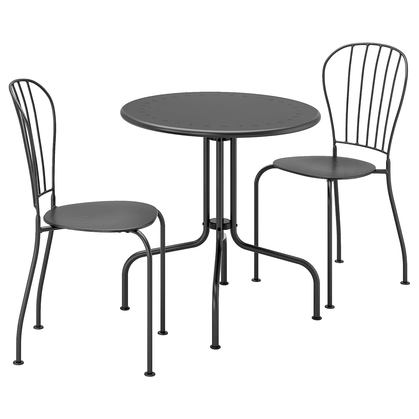 Lacko Table 2 Chairs Outdoor Gray Ikea