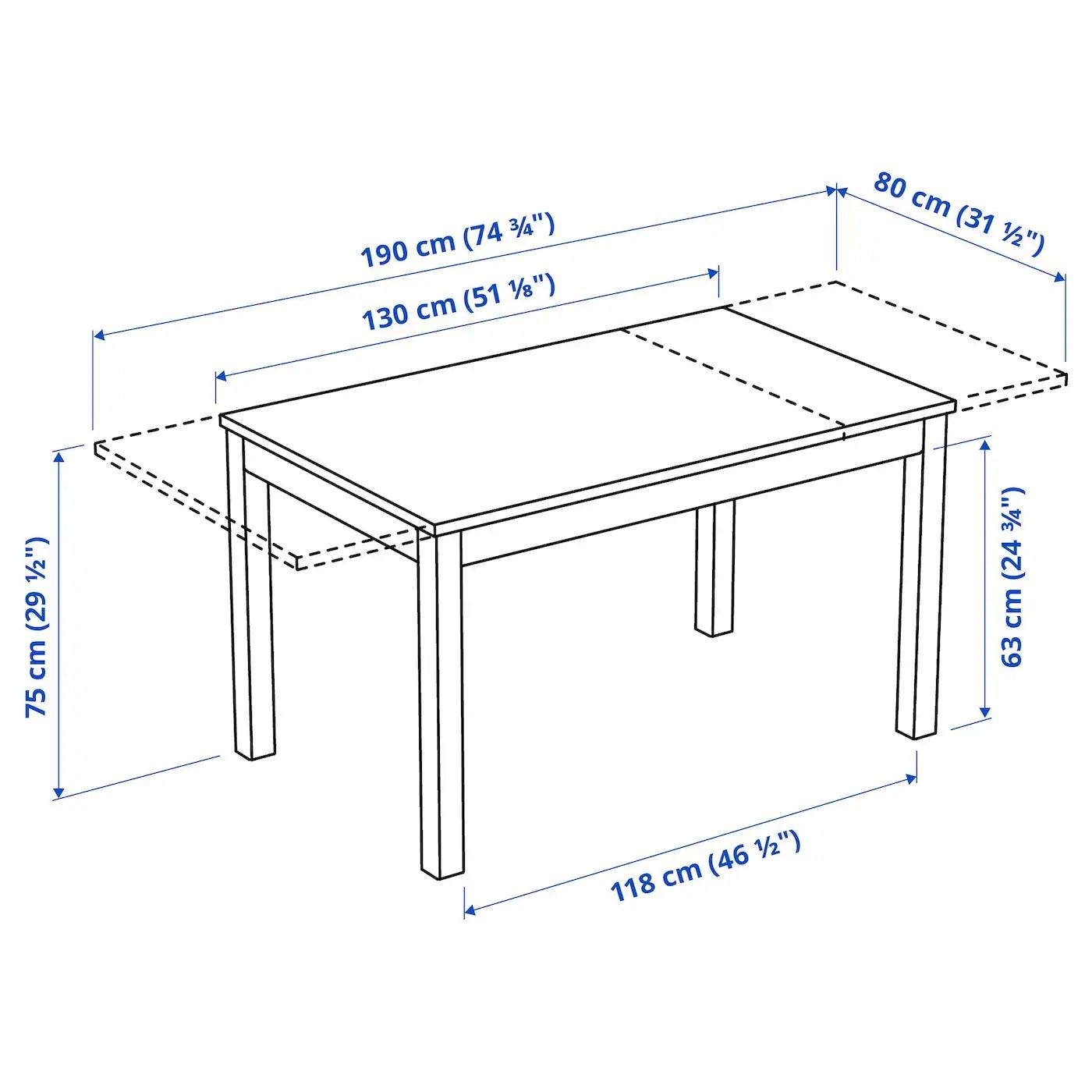 Laneberg Extendable Table White Ikea