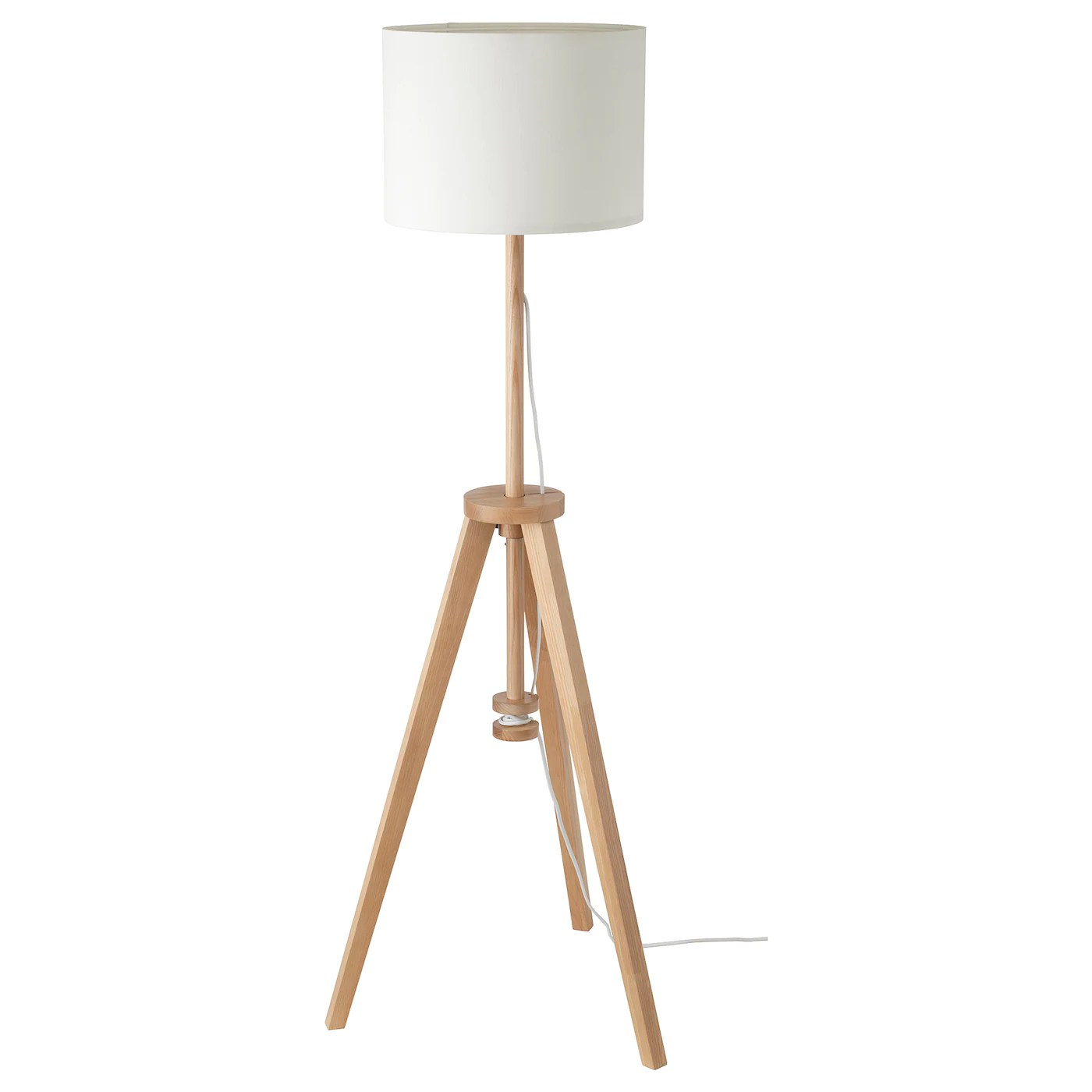 Lauters Floor Lamp With Led Bulb Ash White Ikea