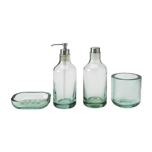 LIMMAREN 4-piece bathroom set, light green