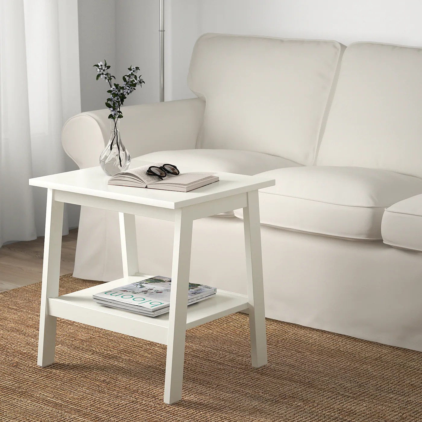 lunnarp side table white 21 5 8x17 3 4