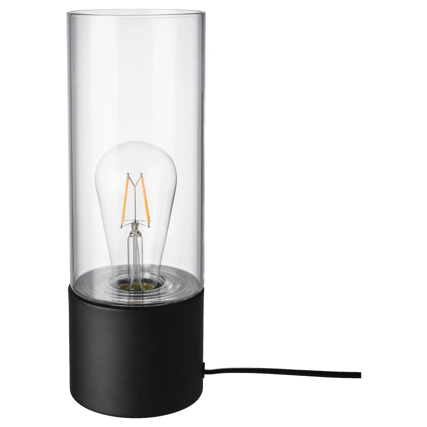 Mackebo Table Lamp Black Clear Glass 11 Ikea