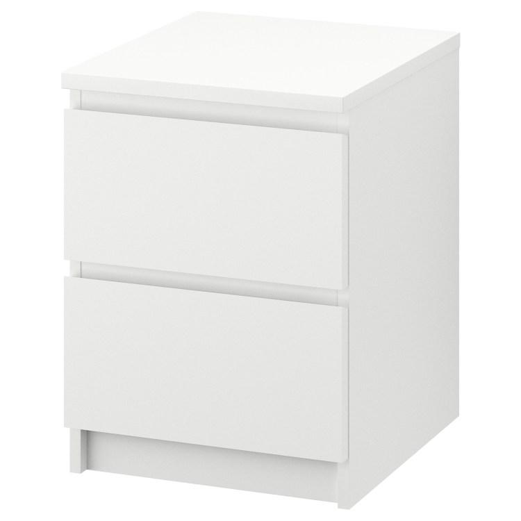 "MALM 2-drawer chest, white, 15 3/4x21 5/8 """