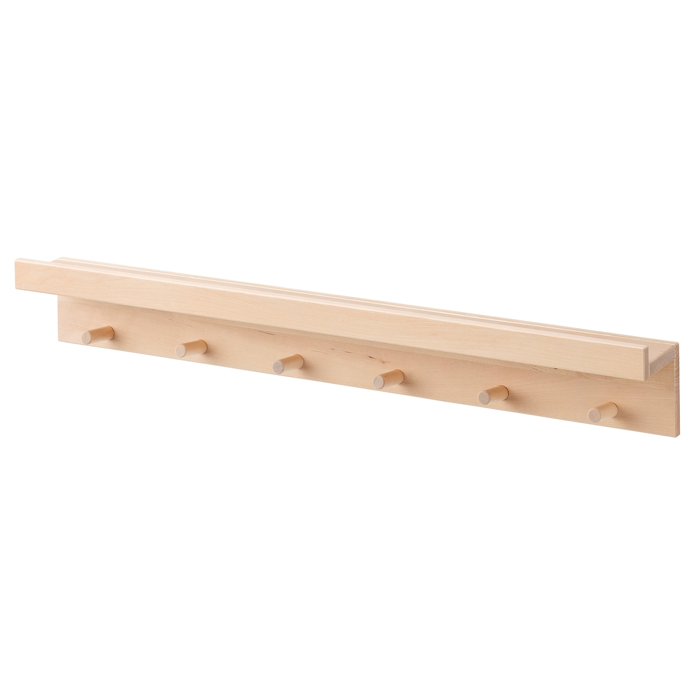 mansarp display shelf with hooks birch 31