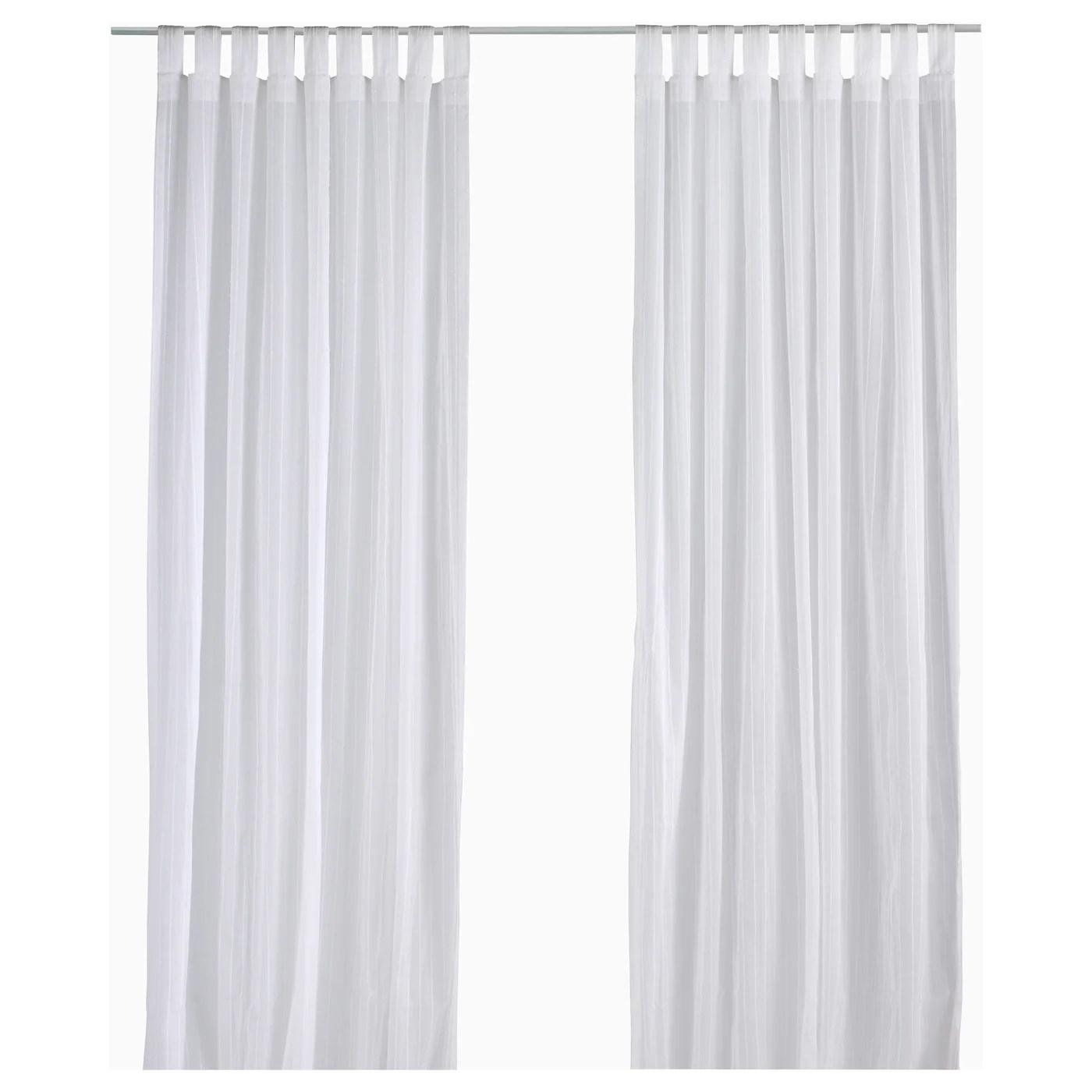 matilda sheer curtains 1 pair white 55x98