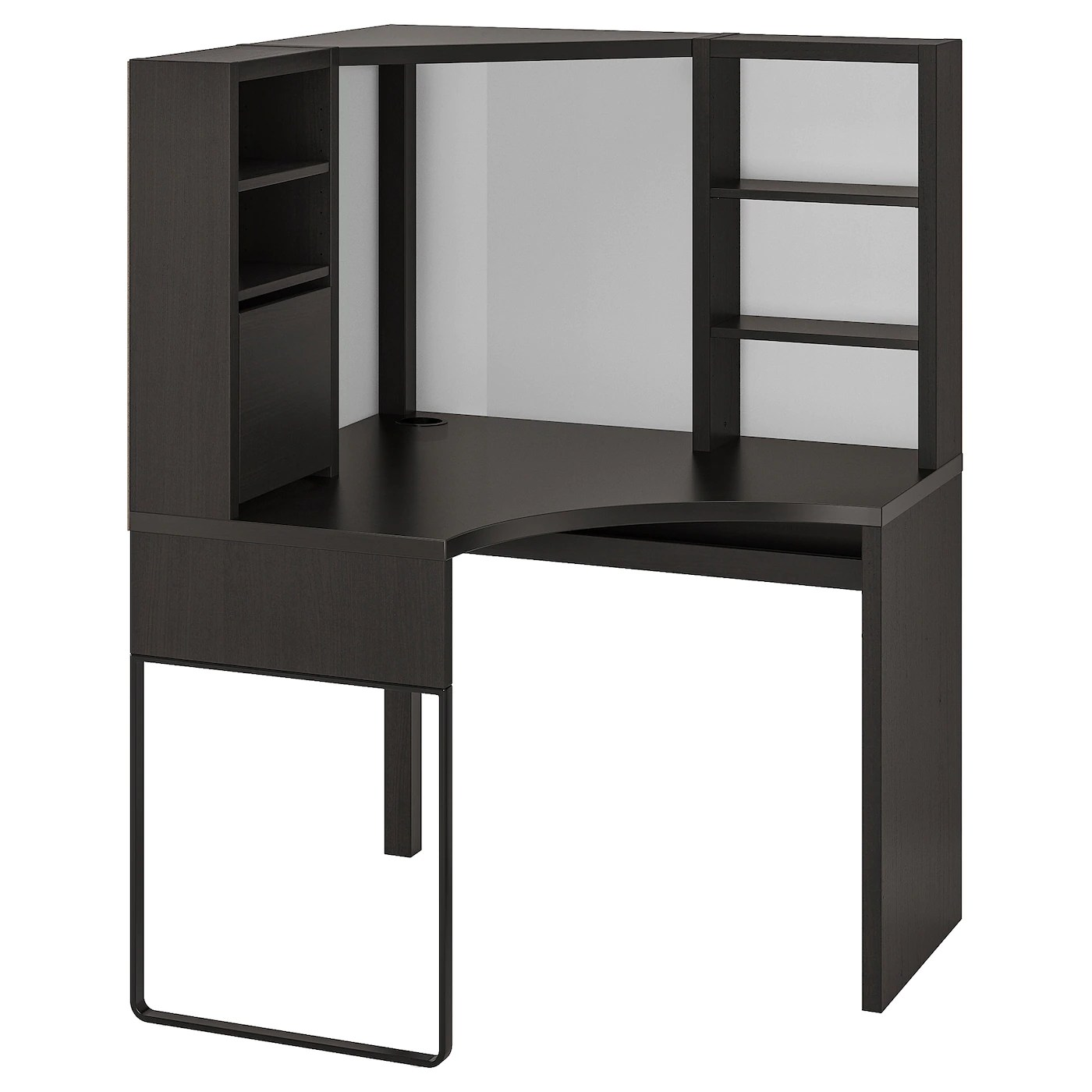 Micke Corner Workstation Black Brown 39 3 8x55 7 8 Ikea