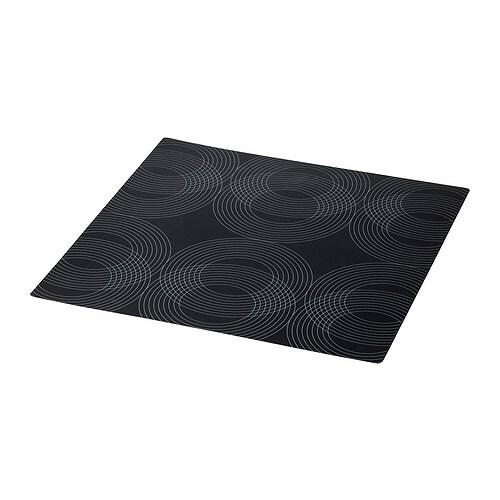 "OMTYCKT Place mat, black Length: 15 "" Width: 15 ""  Length: 37 cm Width: 37 cm"