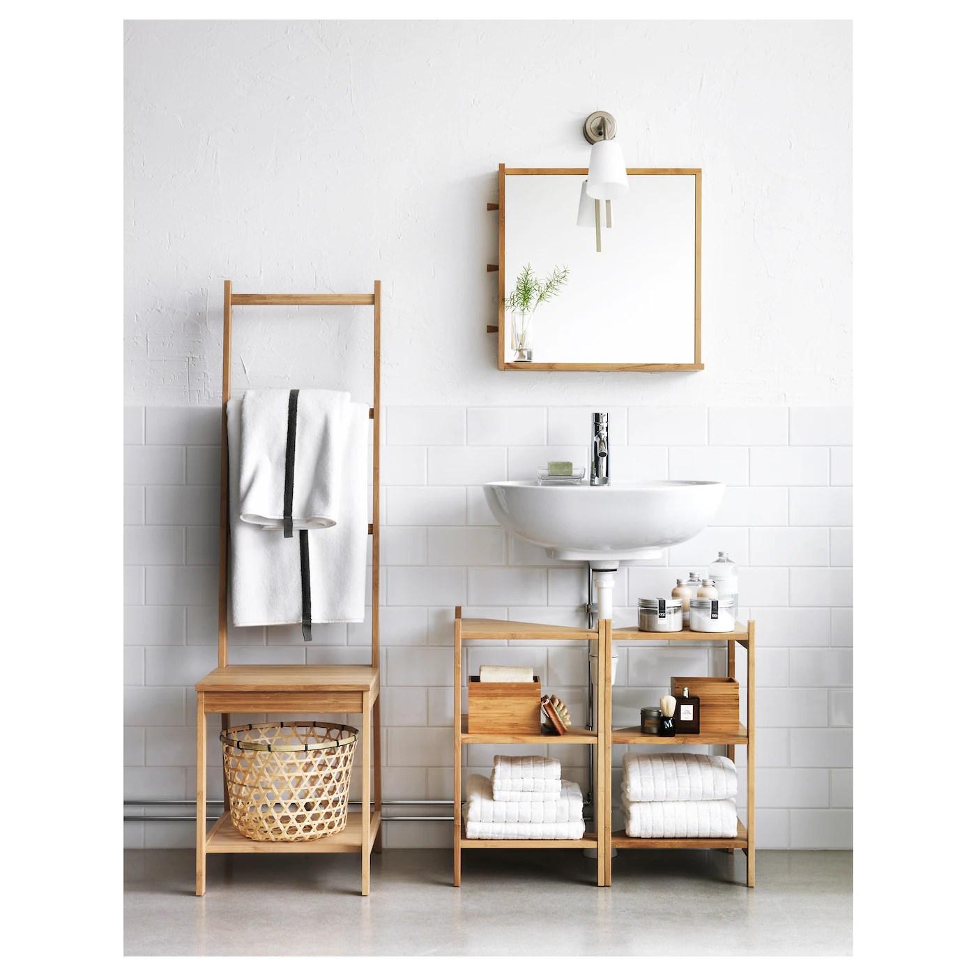 ragrund sink shelf corner shelf bamboo 13 3 8x23 5 8
