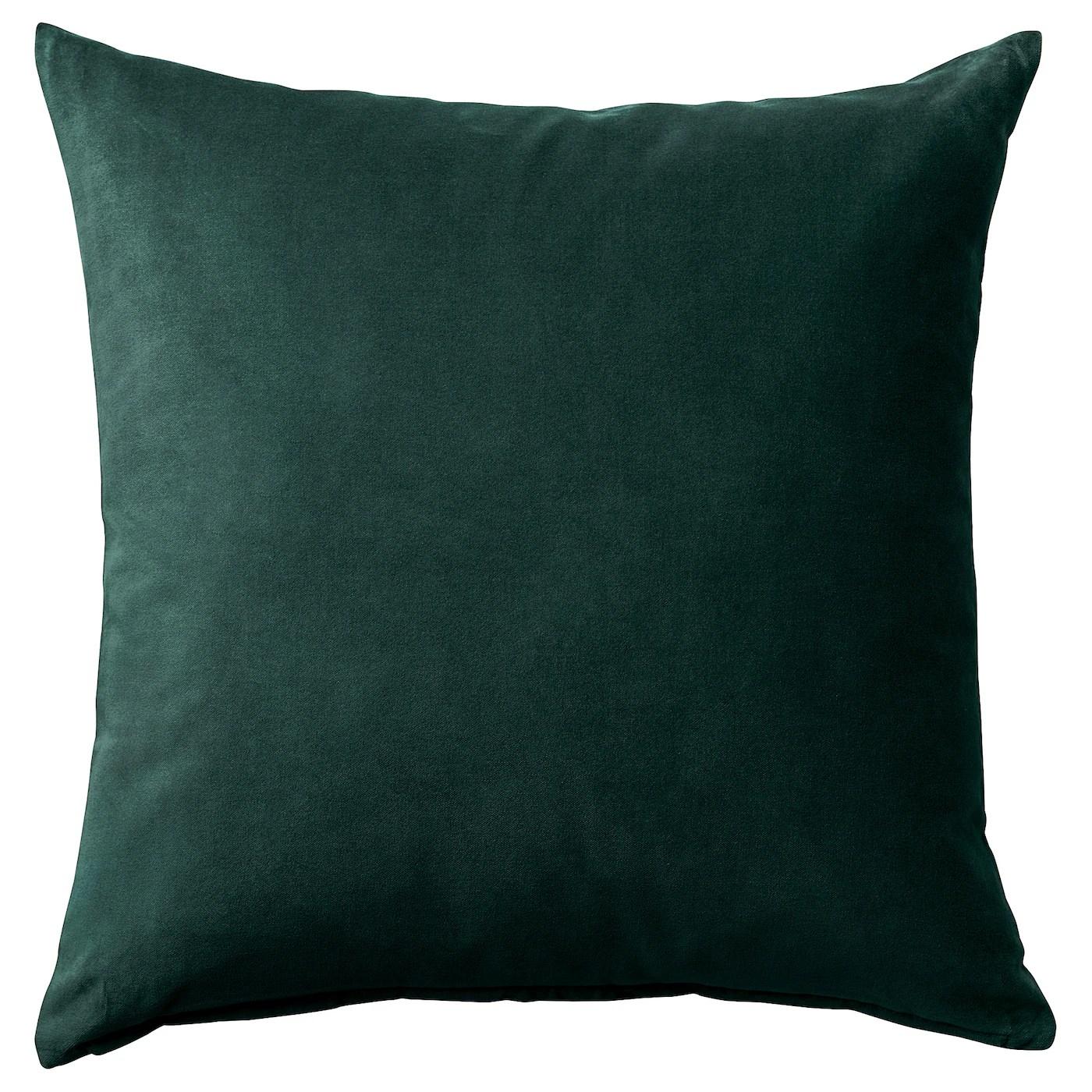 sanela cushion cover dark green 20x20