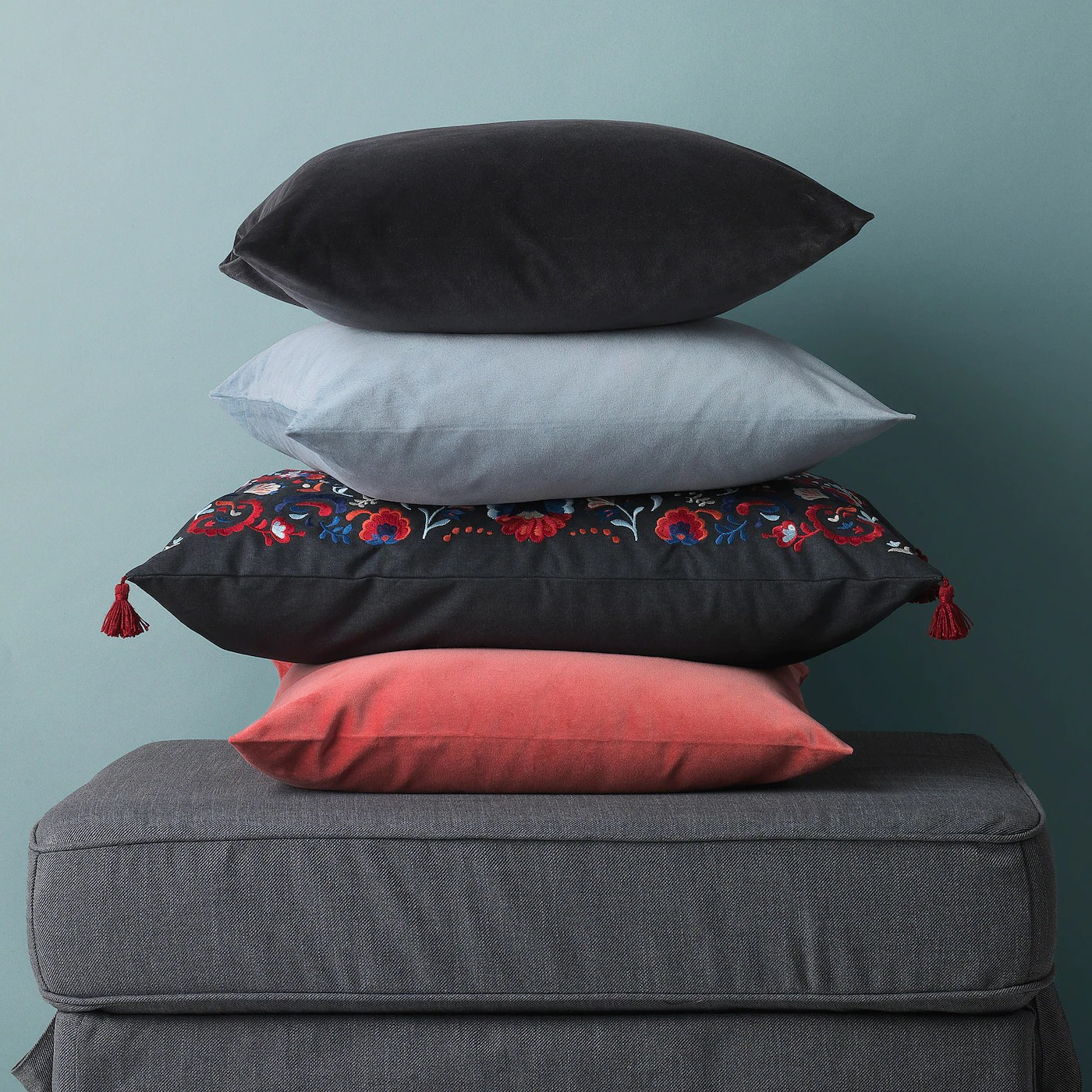 sanela cushion cover light blue 20x20
