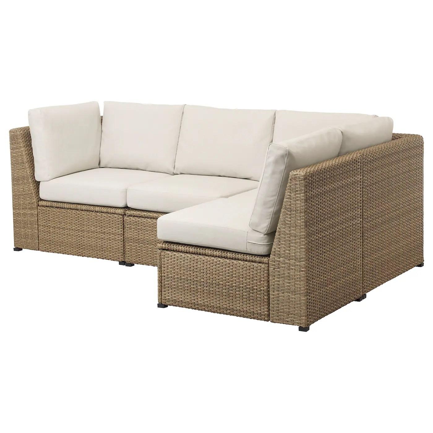 solleron modular corner sofa 3 seat outdoor brown froson duvholmen beige