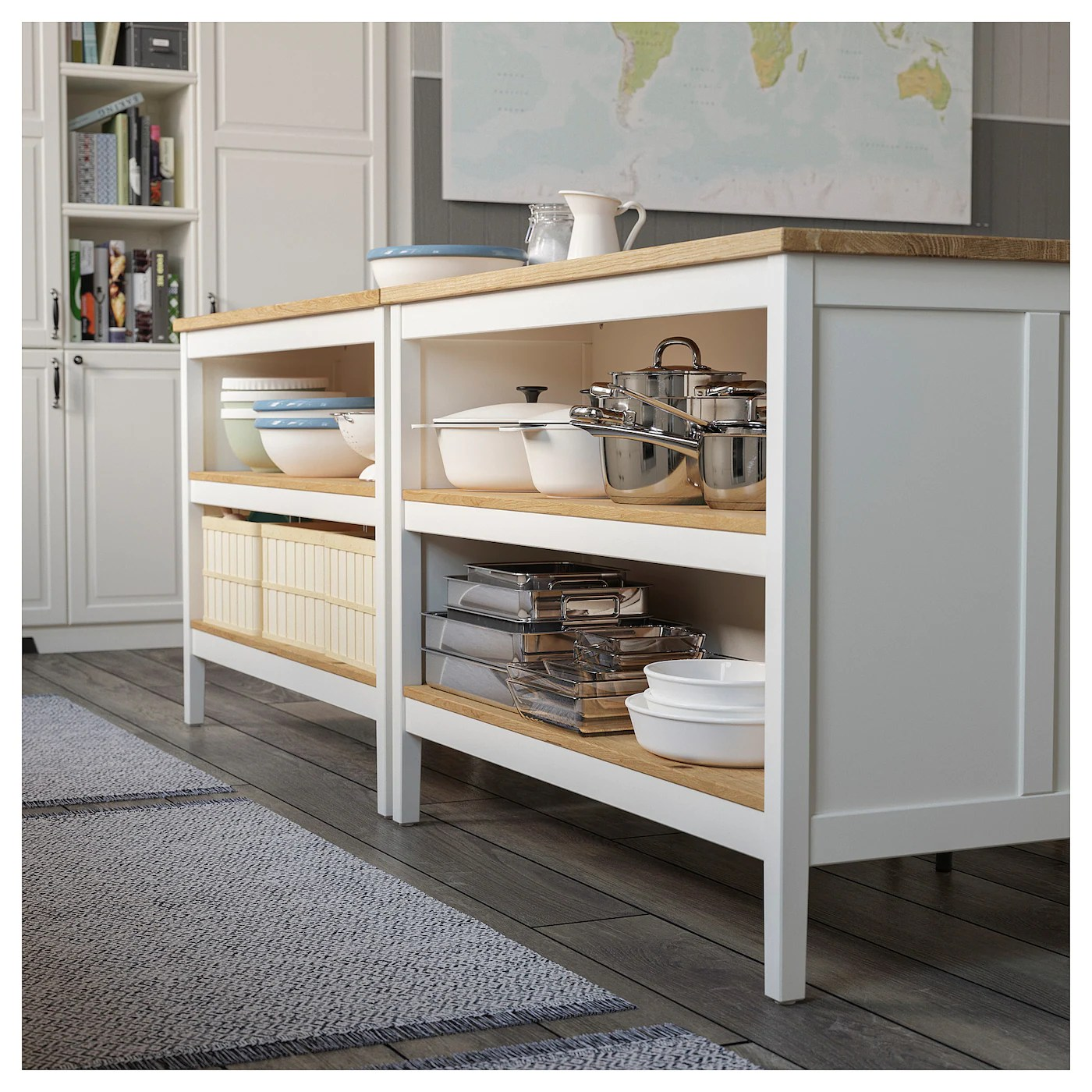 Tornviken Kitchen Island Off White Oak Length 49 5 8 Ikea