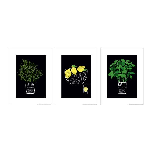 TRILLING Poster, set of 3 IKEA Motif created by Ana Zaja Petrak. The motifs have a common theme so you can easily create a collage.