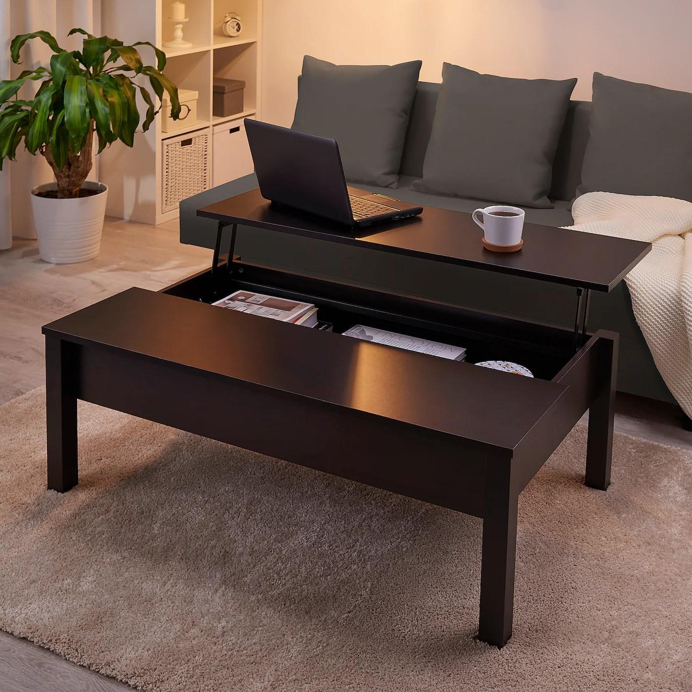 Trulstorp Coffee Table Black Brown 45 1 4x27 1 2 Ikea