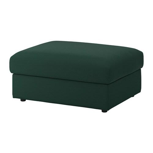 Vimle Ottoman With Storage Gunnared Dark Green Ikea