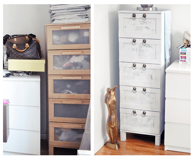 Boring Birch Ikea Chest Of Drawers Makeover From Drab To