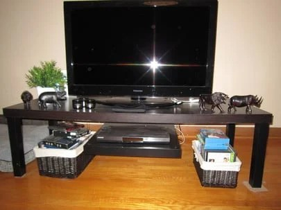 Tv Stand With Floating Dvd Platform Ikea Hackers Ikea