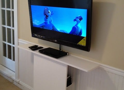 LEKSVIK Floating TV Stand IKEA Hackers IKEA Hackers