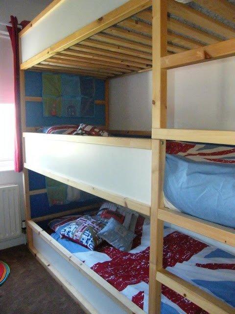 Space Saving Kids Triple Decker Beds IKEA Hackers IKEA