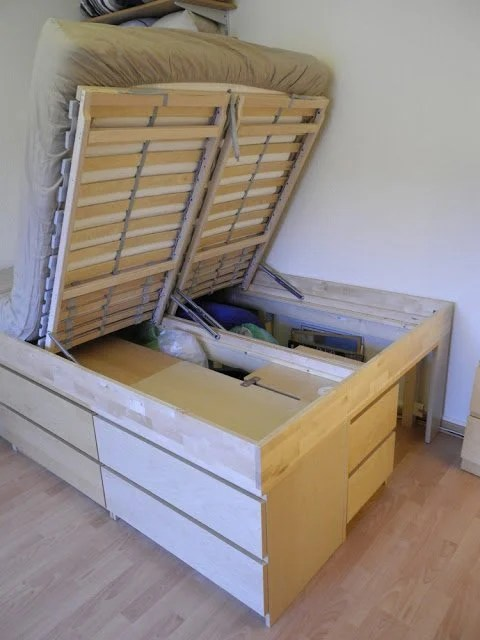 Simple Malmus Maximus hacking MALMs and LERB CK into storage bed IKEA Hackers