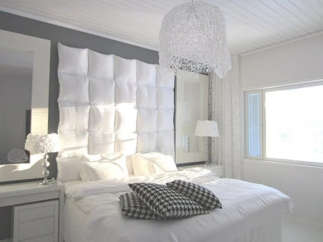 Great The pillow is not just under your head Cushioned headboard with little money