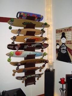 Longboard And Skateboard Shelf IKEA Hackers IKEA Hackers