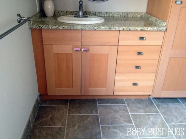 ikea kitchen made into 'custom' bathroom vanity - ikea hackers