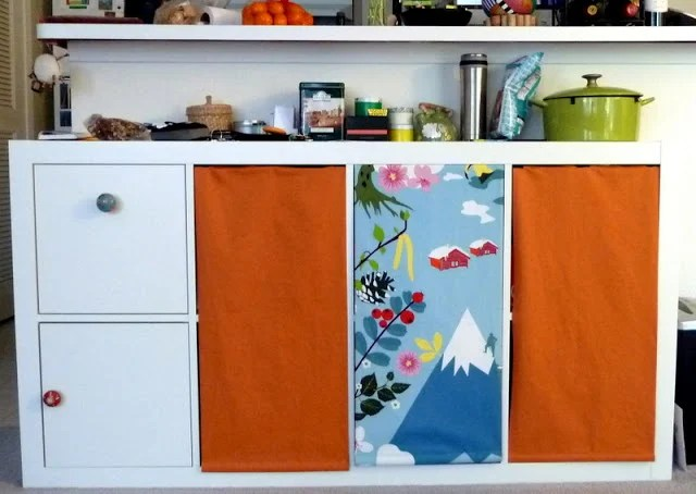 Marvelous Expedit kitchen storage hack