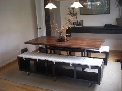 Lack Shelving Unit As Dining Benches IKEA Hackers