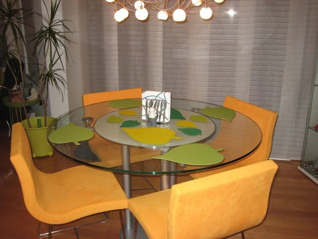 Leaf Shaped Place Mats For Round Dining Table IKEA Hackers IKEA Hackers