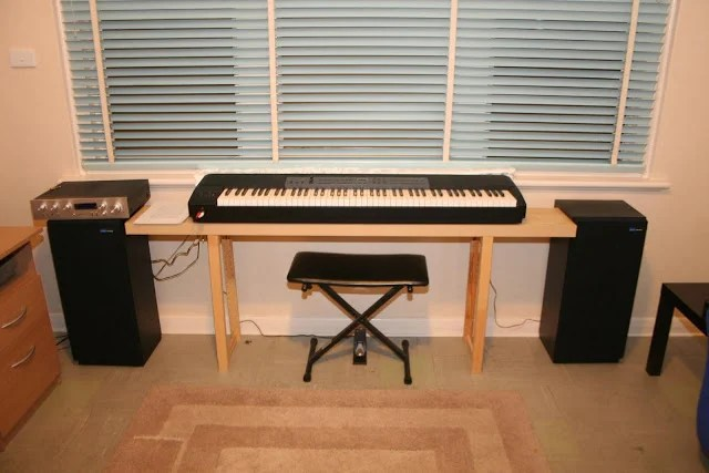 Lacked A Piano Bench So Made A Lack Piano Bench Ikea