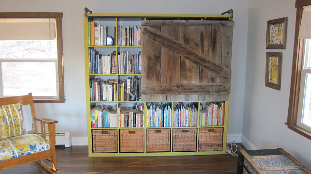 Expedit bookshelf turned rustic TV cabinet/bookshelf