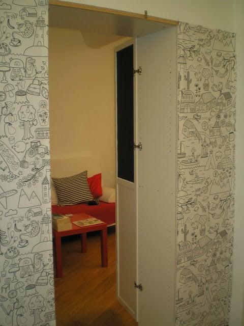 Billy walk-in room divider (psst... it's a secret room)