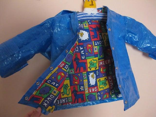 Kid's raincoat from Ikea bag