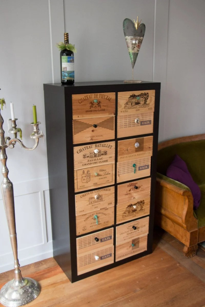 Spotted In Switzerland Expedit With Wine Styled Drawers