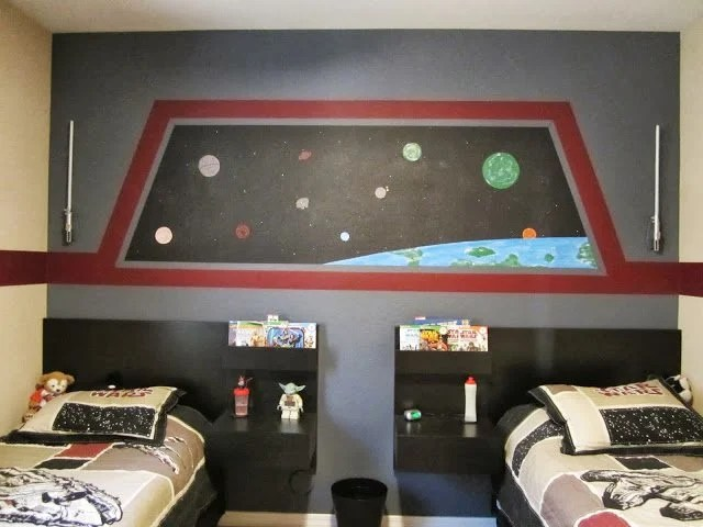 Elegant Floating Star Wars Beds