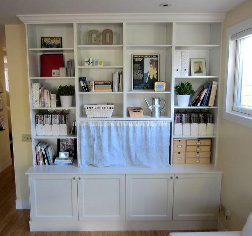 Besta Built-In Family Room Bookshelf and TV Unit