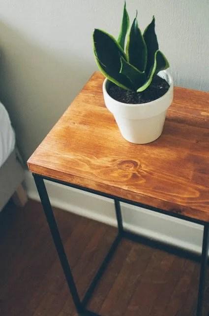 Laundry Hamper Turned Beautiful Modern Side Table Ikea