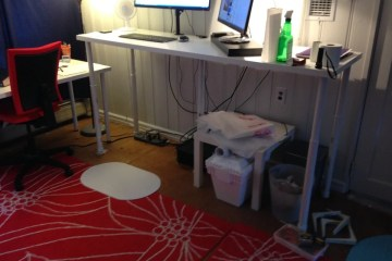 Stuva Desk With Besta Doors Ikea Hackers