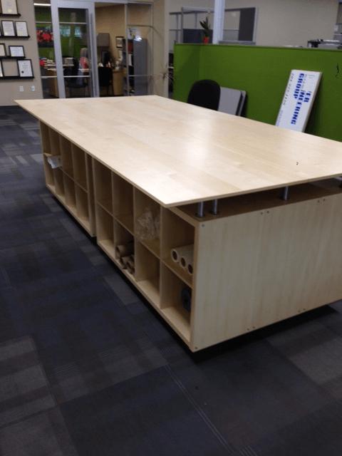 Kallax and Galant Engineering Layout Table(s) - IKEA Hackers