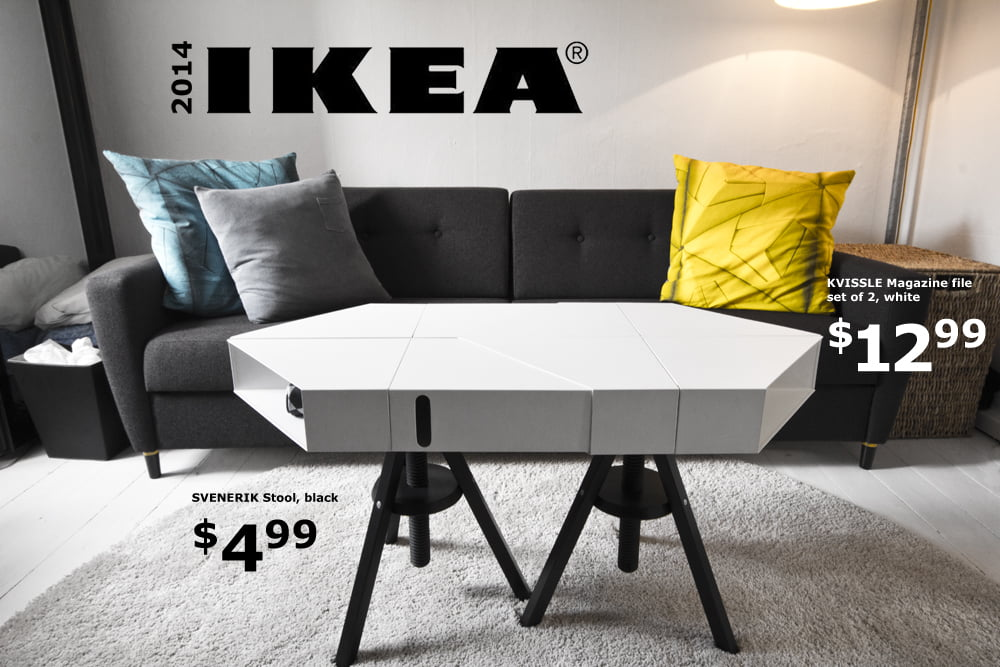 The KVISSLE adjustable coffee table: Don't you wish IKEA really made this?