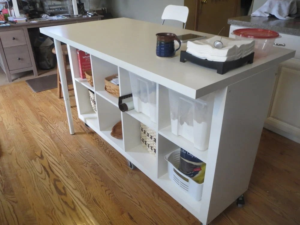 Extendable Kitchen Island using Expedit and Linmon