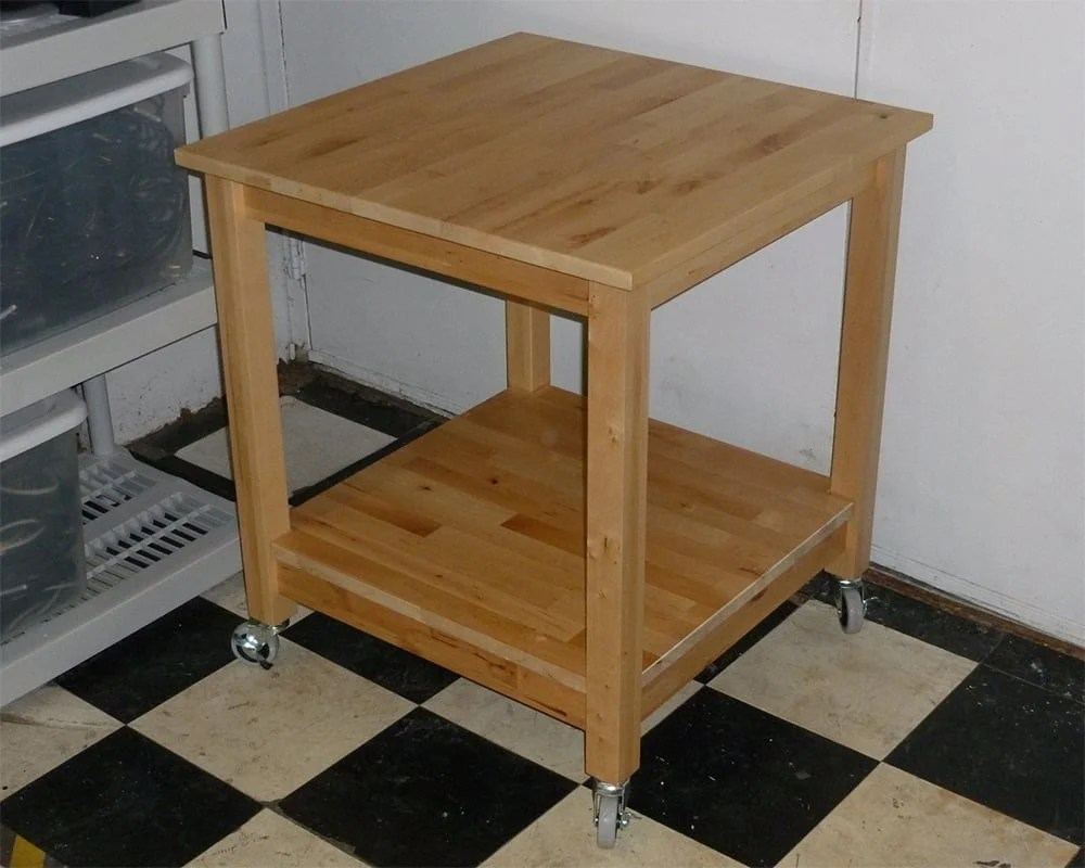 Simple Norden Tables turn into rolling Kitchen Island