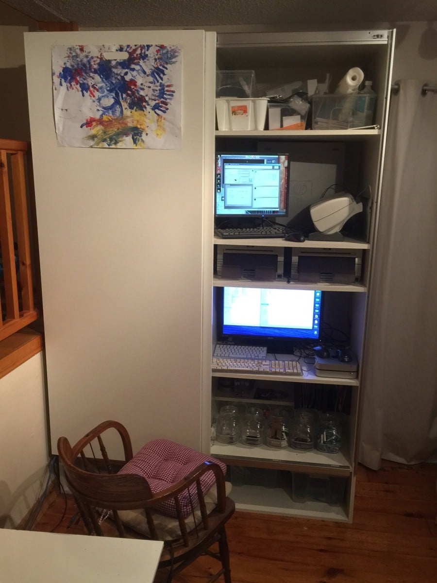 Wall Office With Akurum Kitchen Cabinets And Pax Sliding Doors IKEA Hackers IKEA Hackers