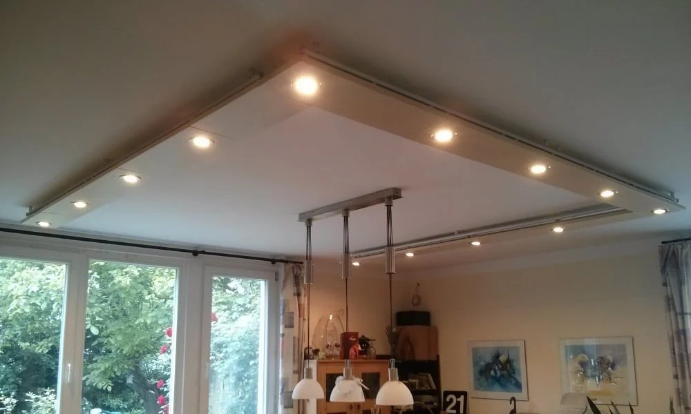 Ceiling lights from IKEA HAGANÄS drawer panels