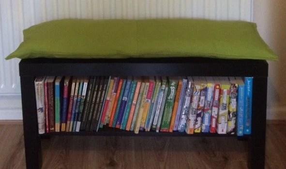 Lack Tv Unit Into Bookshelf Bench Ikea Hackers Ikea