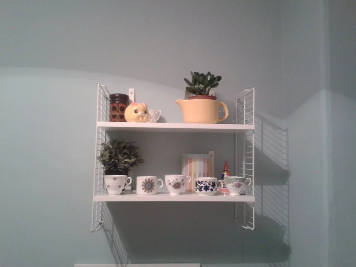 Room decor ideas ikea. cool diy ikea retro string shelving hack ...