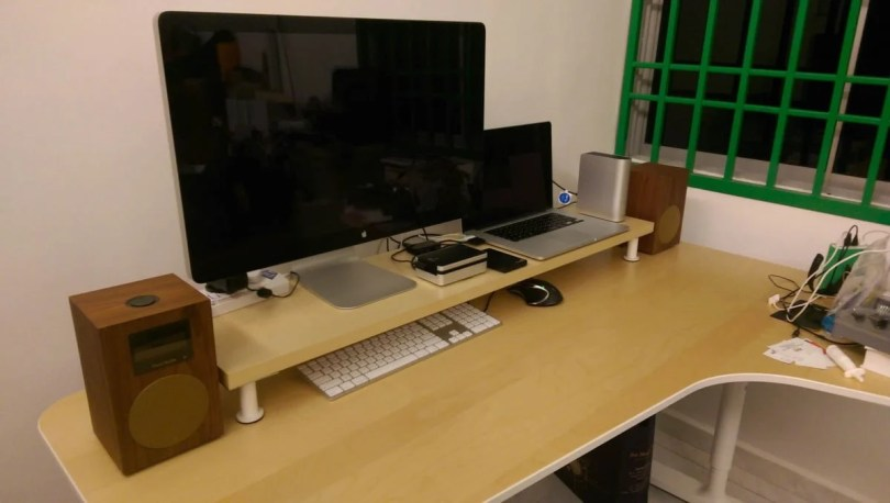 Ikea Desk shelf hack