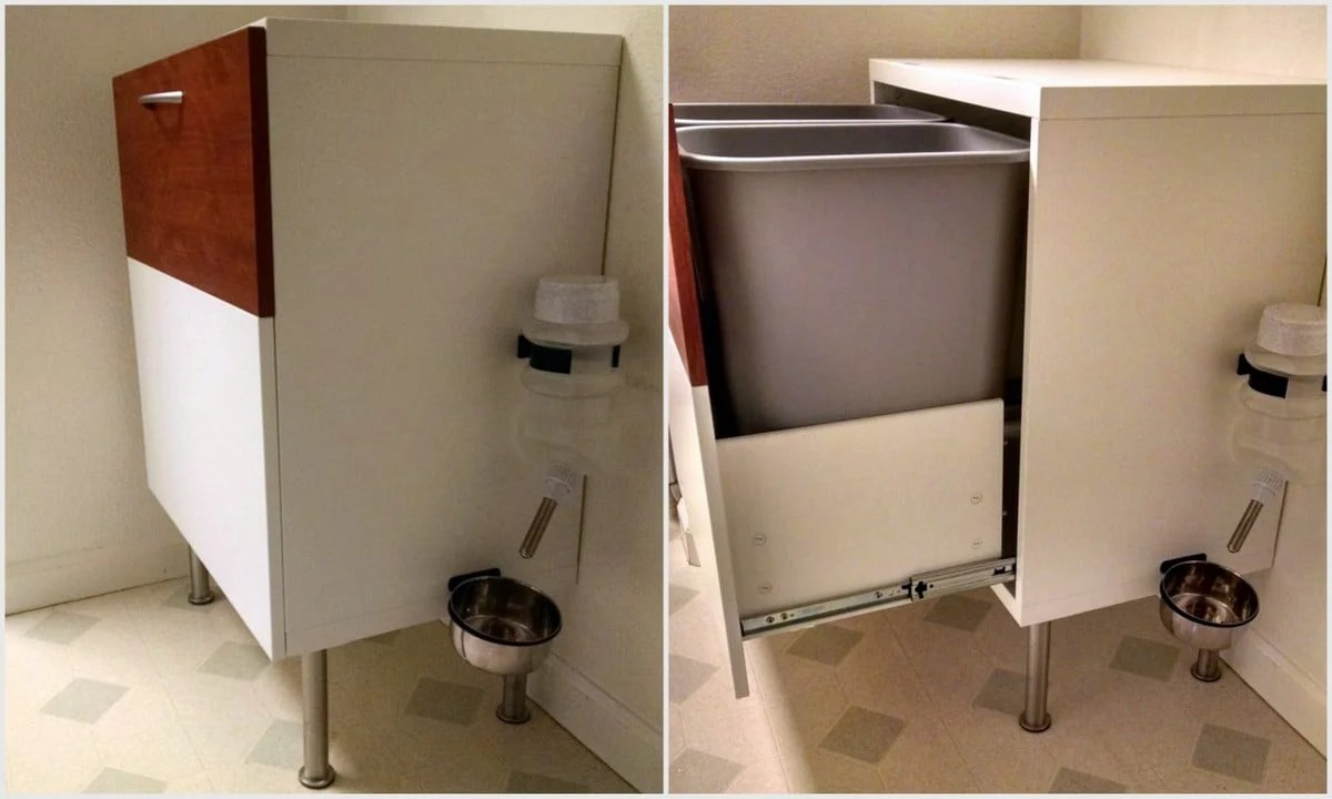 Ikea Kitchen Trash Recycle Storage Cabinet