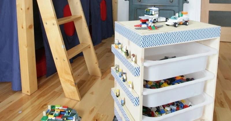 So Easy To Make An Ikea Trofast Rolling Lego Table Ikea